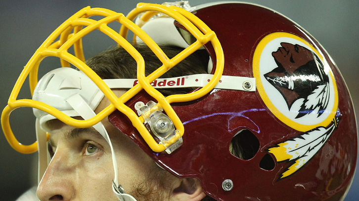 Oh no, not the dreaded Redskins logo. How can we now be expected to carry on ?
