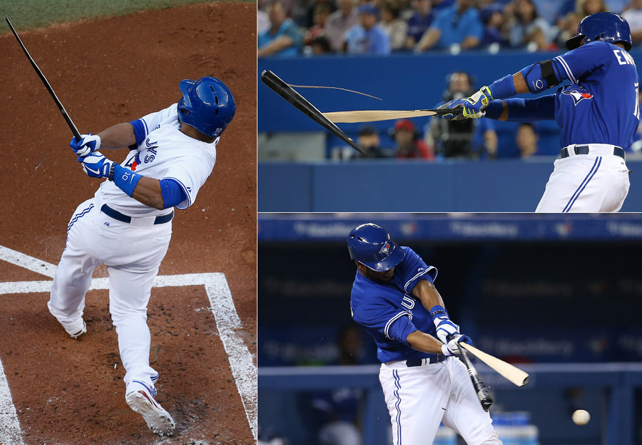 Like Rasmus, Encarnacion?s bats often don?t make it back to the bat rack in one piece