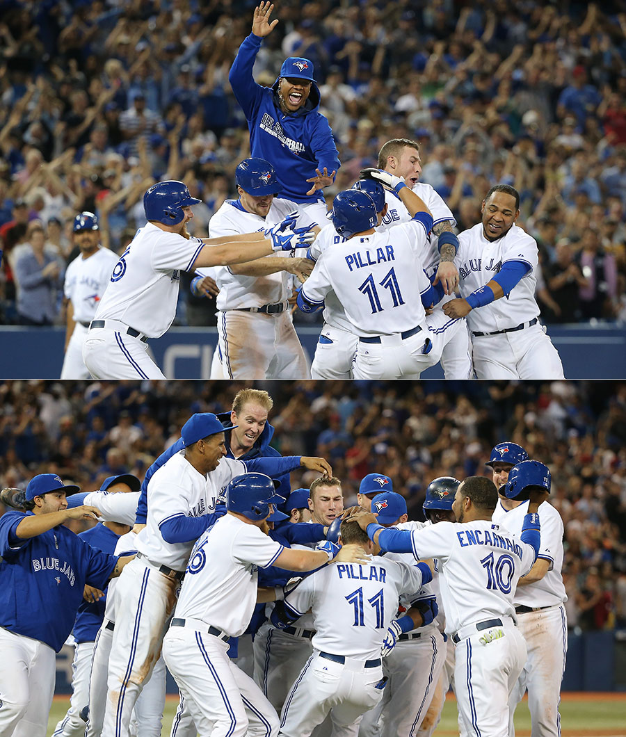 Walk-off #2 on June 9th against the Twins ? so good it?s worth showing two shots