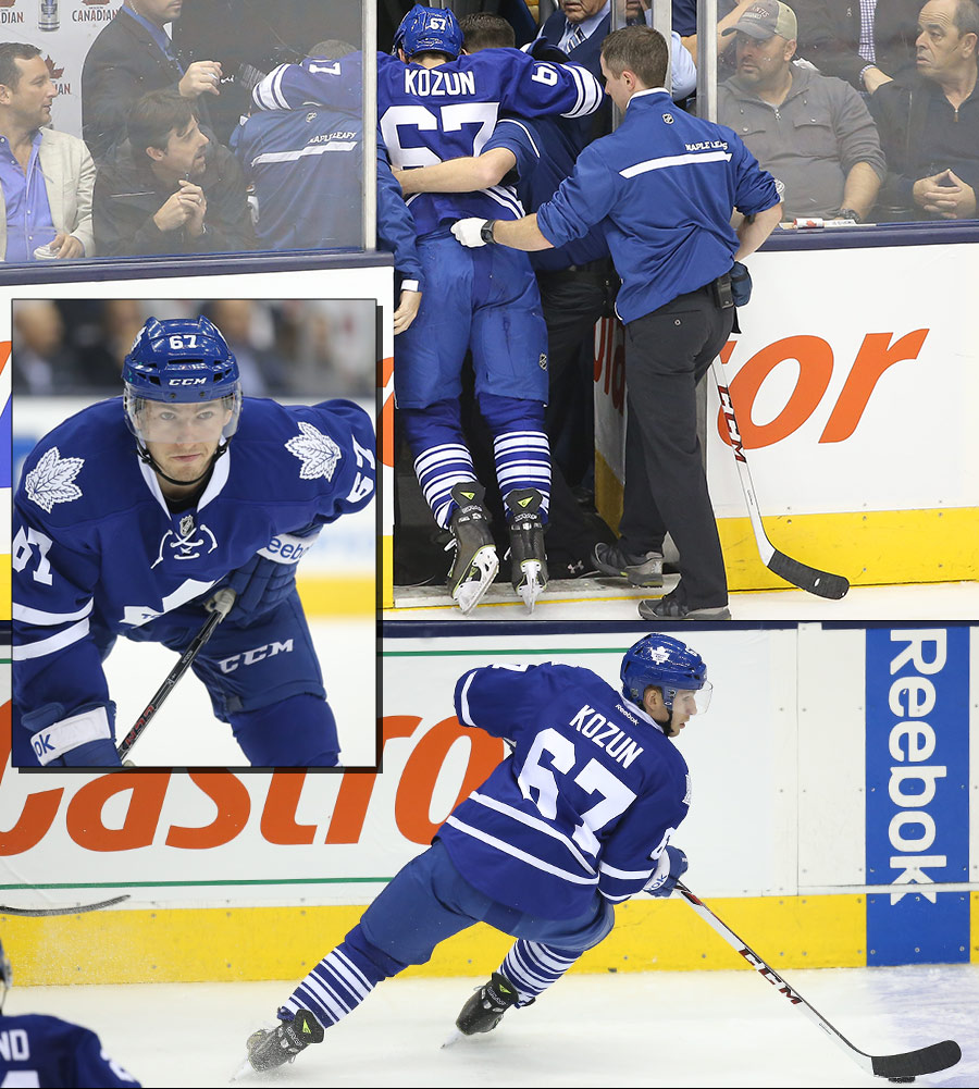 Brandon Kozun, all but a footnote in Leafs history, has been punished by the gods for his refusal to defer to superstition by violating a sacred no-go zone in Leafland