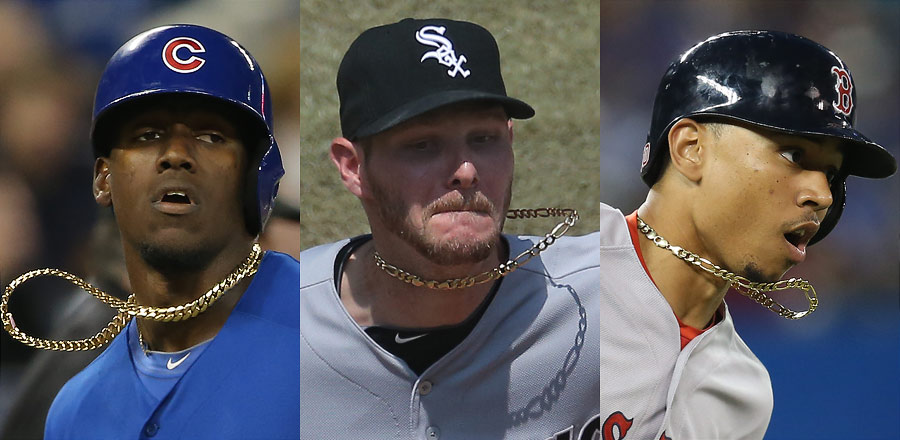 Jorge Soler, Chris Sale, and Mookie Betts let the gold fly
