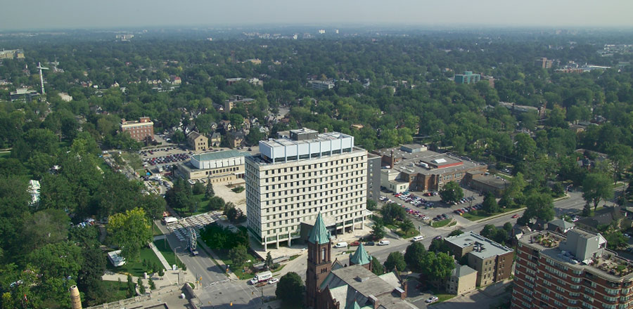 That is City Hall.  Here you can see exactly why London, Ontario is known as the Forest City