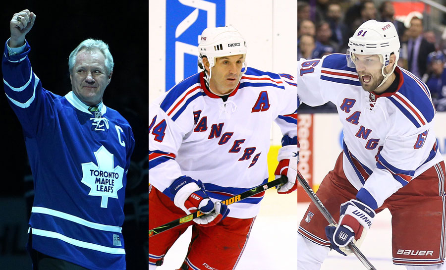 Former London Knights Darryl Sittler, Brendan Shanahan, and Rick Nash.  The first two are Hall of Famers and the third has a good shot at it
