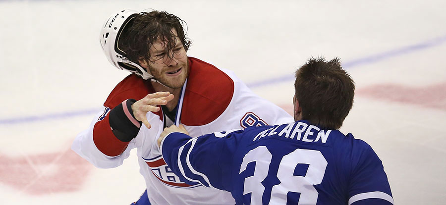 Brandon Prust is a feisty player who is not afraid to tangle