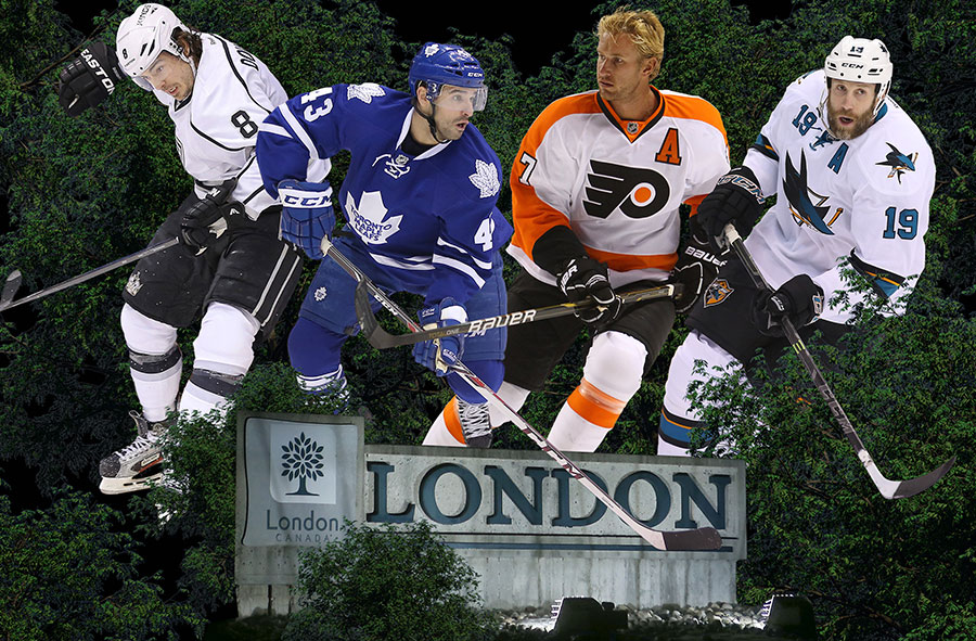 Drew Doughty, Nazem Kadri, Jeff Carter, and Joe Thornton have helped put London on the map