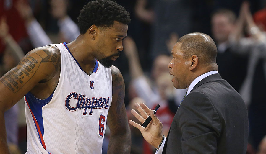 DeAndre Jordan knows that when coach and one-time player Doc Rivers talks, you better listen