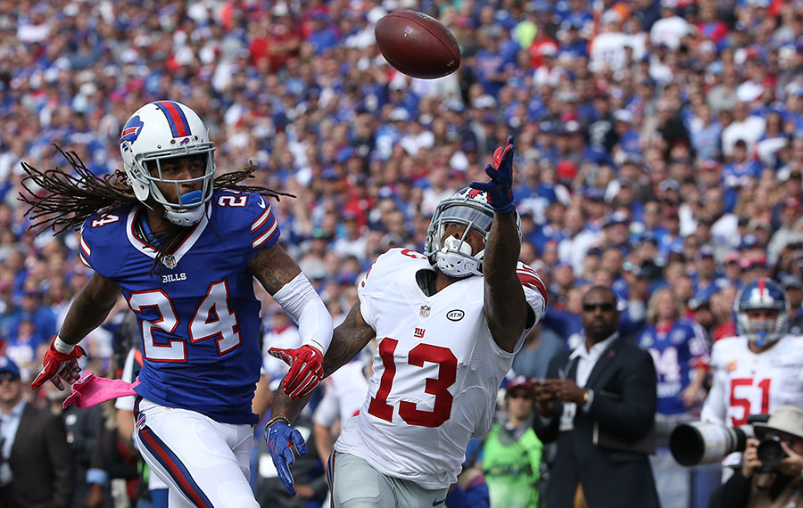 Odell has a step on Stephon Gilmore and . . .