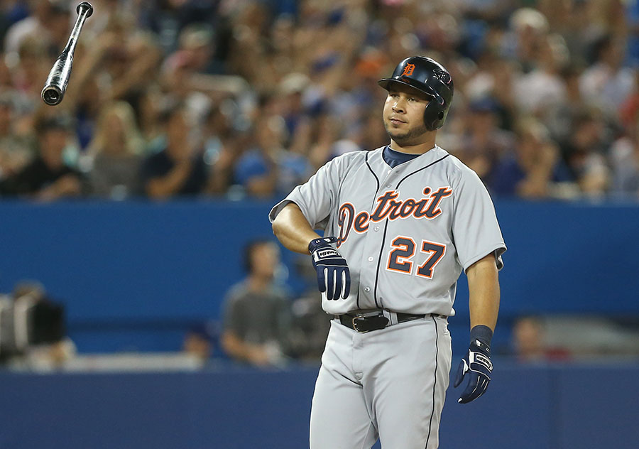 Jhonny Peralta ditches his bat after K?ing